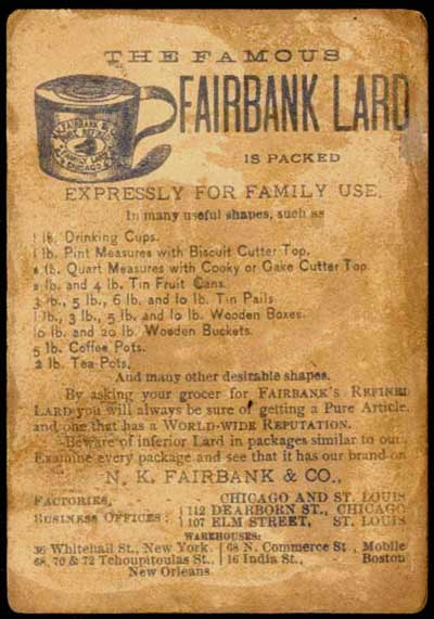 N.K. Fairbank advertisement