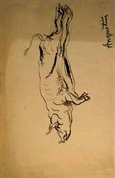 Louis Anquetin - Cochon suspendu par les pieds