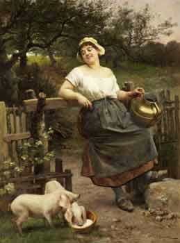 Émile-Antoine Bayard - A Peasant Girl, Brittany