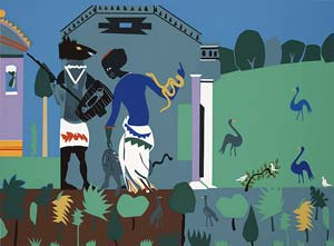 Romare Bearden - Circe Turns a Companion of Odysseus into a Swine