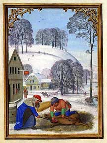 Simon Bening - December, Slaughtering a Pig