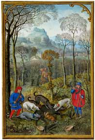 Simon Bening - December, Hunting wild boar