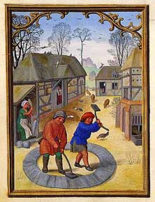 Simon Bening - November, Carding Wool