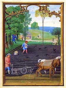 Simon Bening - September, Plowing and Sowing Seed