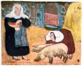 Emile Bernard - Femmes au porcs