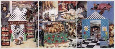 Tarleton Blackwell - Butcher's Shop II (Triptych)