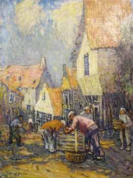 Lucy Scott Bower - Villagers gathering