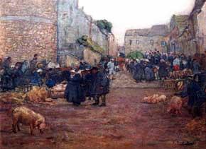 Lucy Scott Bower - Pig Market, Dinan