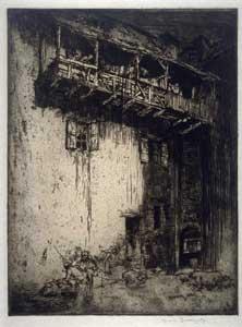 Frank Brangwyn - Old Houses, St. Cirq.