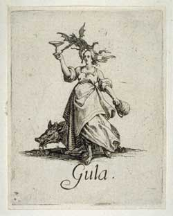 Jacques Callot - The Seven Deadly Sins: Gluttony