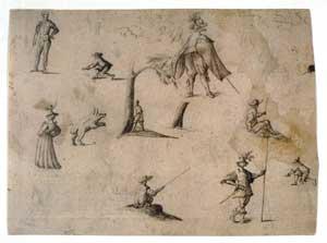 Jacques Callot - A Sheet of Sketches