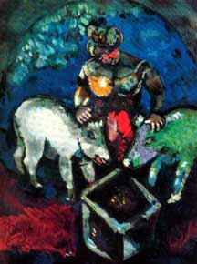 Marc Chagall - Woman with Pigs