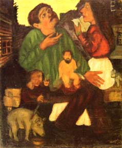 Marc Chagall - Holy Family