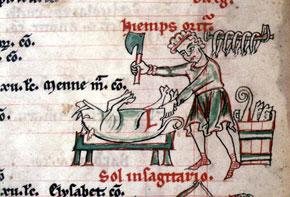 Cistercian Psalter - November: Killing the Pig
