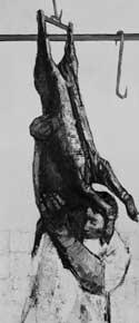 Peter Coker - Man Carrying Pig