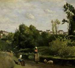 Jean-Baptiste-Camille Corot - Gardeuses de Porce
