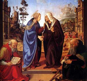 Piero di Cosimo - The Visitation with Saint Nicholas and Saint Anthony Abbot