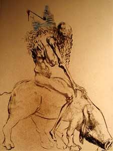 Salvador Dali - Woman with Pig