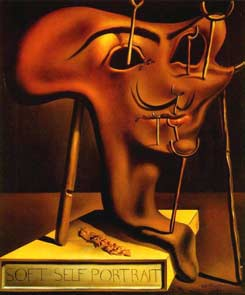 Salvador Dali - Soft Self-portrait with Grilled Bacon