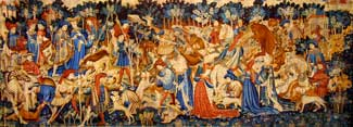 Devonshire Hunting Tapestries - Boar and Bear Hunt