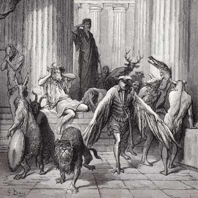 Gustave Doré - Les Compagnons d'Ulyssé