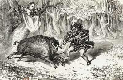 Gustave Doré - VII Le Sanglier