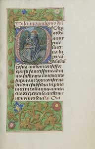 Master of the Dresden Prayer Book - Initial O: Saint Anthony Abbot