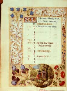 Master of the Dresden Prayer Book - Huth Hours, calendar page for November