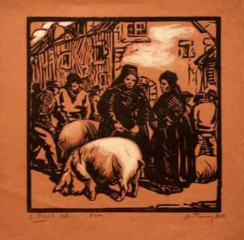 Lionel Floch - Bretonnes au marché au cochons