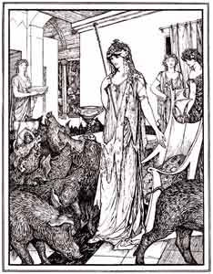 H.J. Ford - Circe sends the Swine to the Styes
