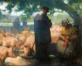 Louis Fortuney - Bretagne, la foire aux cochons
