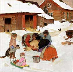 Clarence Gagnon - Killing the Pig