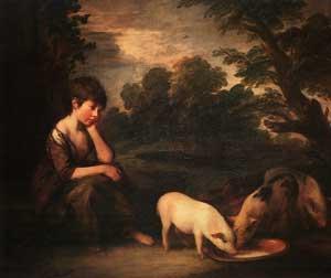 Thomas Gainsborough - Girl with Pigs