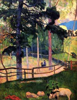 Paul Gauguin - Nostalgic Promenade, Pont-Aven