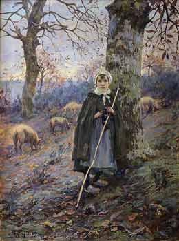 Numa François Gillet - La gardienne de cochons