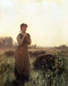 Arthur Hacker - The Farm Girl