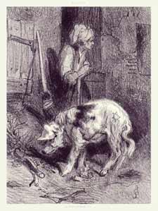 Louis Adolphe Hervier - Femme avec un cochon