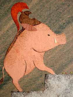 Véronique Joffre - Circe turns Odysseus' companions into swine