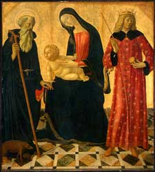 Neroccio de'Landi - Madonna and Child with Saint Anthony Abbot and Saint Sigismund