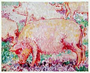 Mikhail Larionov - Pigs