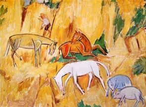 Mikhail Larionov - Horses