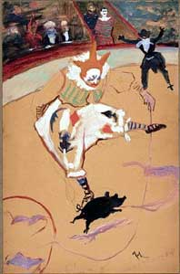 Henri de Toulouse-Lautrec - Medrano with a Piglet at the Circus Fernando