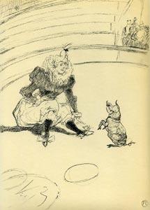 Henri de Toulouse-Lautrec - Clownesse et Cochon