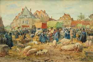 René Levrel - Marché aux cochons