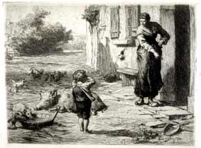 Leon Augustin Lhermitte - Au village
