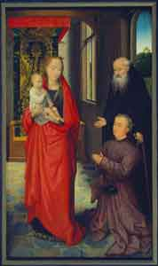 Hans Memling - The Virgin and Child with St. Anthony Abbot and a Donor