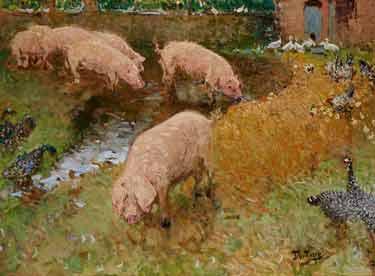 Pierre-Eugene Montezin - Les porcs