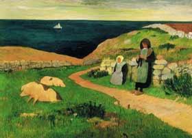 Henry Moret - Jeunes Bretonnes dans la lande
