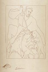Pablo Picasso - Méléagre tue le Sanglier de Calydon