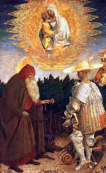 Pisanello - The Virgin and Child with Saints George and Anthony Abbot